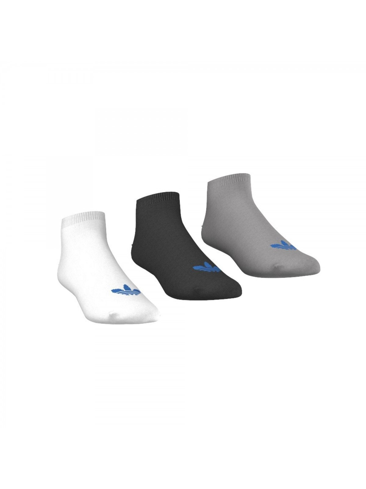 ADIDAS chaussettes courtes AB3889 blanc / gris / noir
