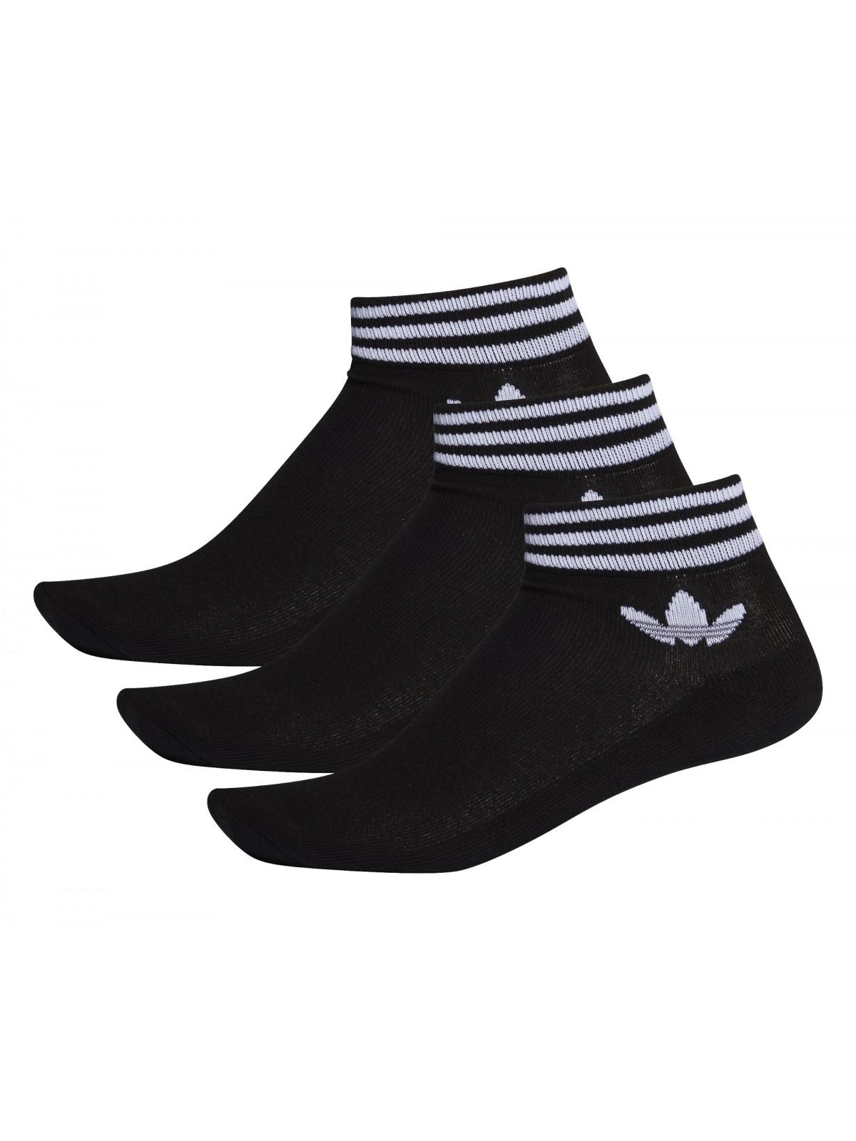 ADIDAS Chaussettes trefoil noir / blanc