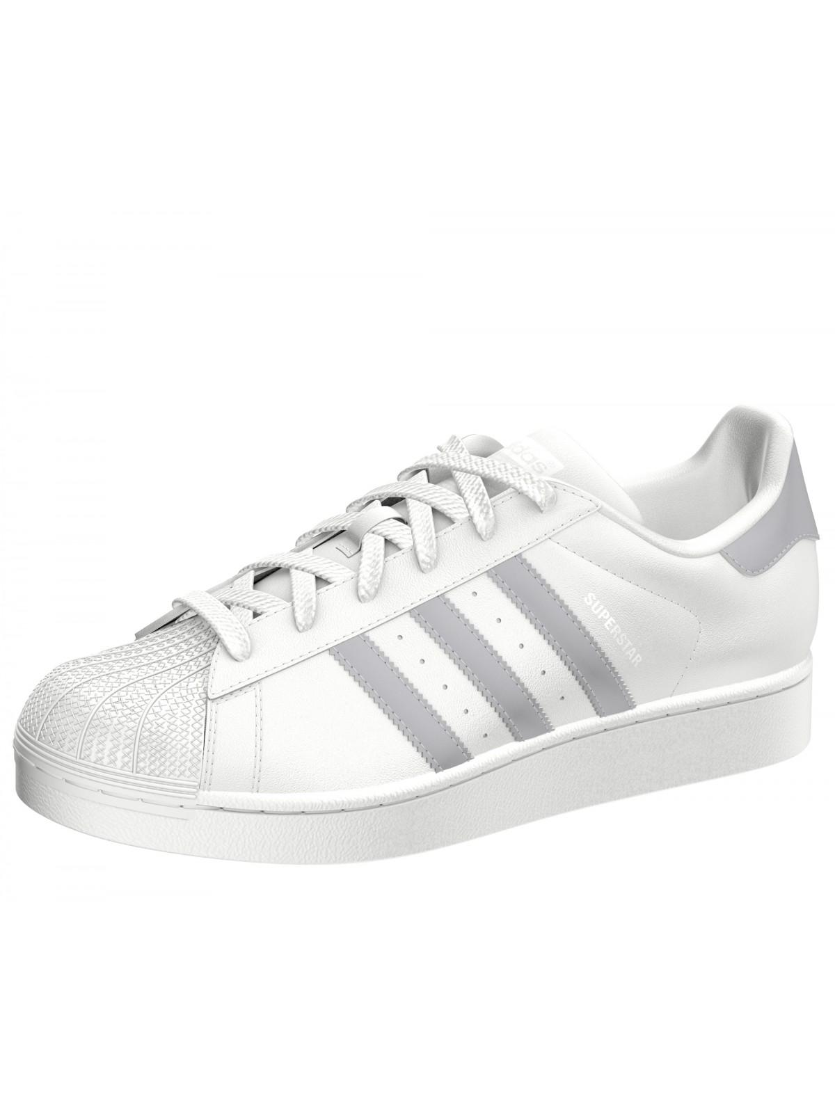 adidas superstar grise et blanche