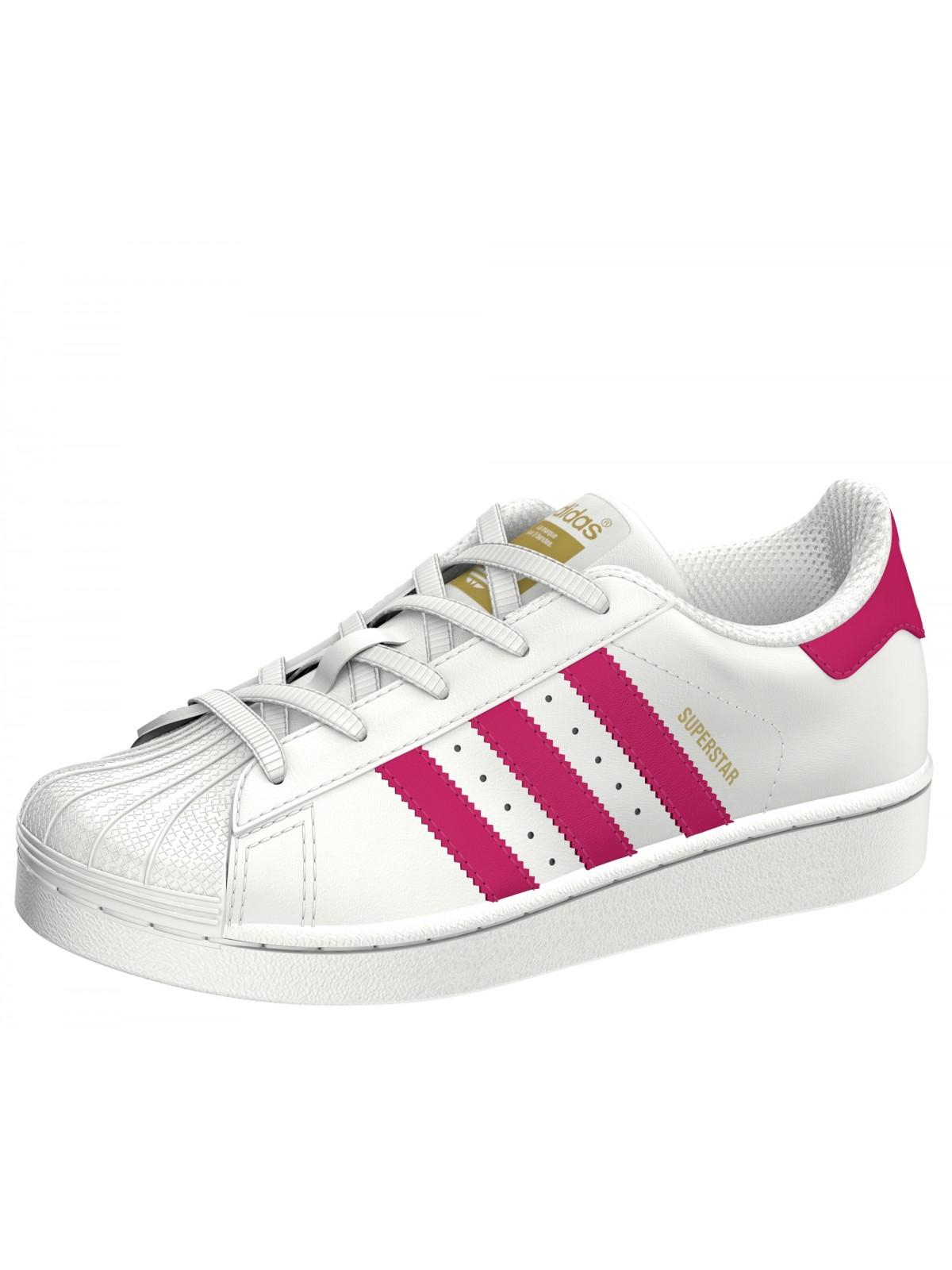 Adidas Superstar Cadet blanc / rose