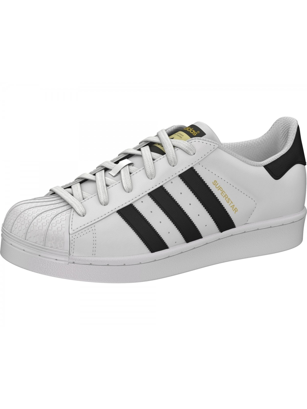 ADIDAS Superstar cuir blanc / noir / or -