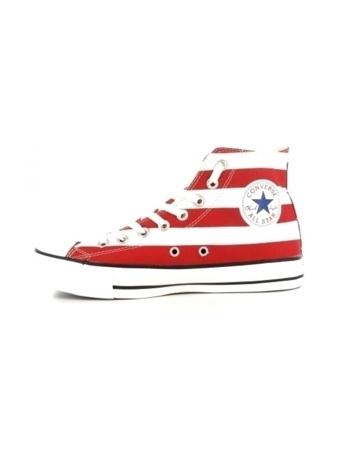 Converse Chuck Taylor all star toile rayée blanc / rouge