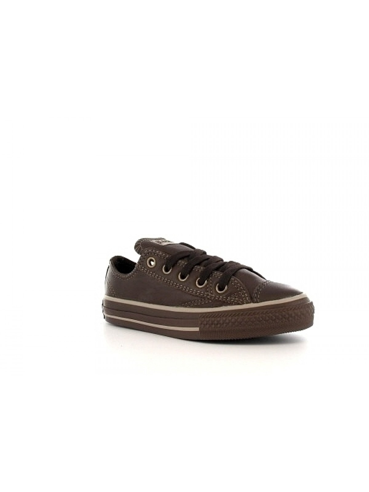 Converse Chuck Taylor all star junior cuir basse Soft chocolat