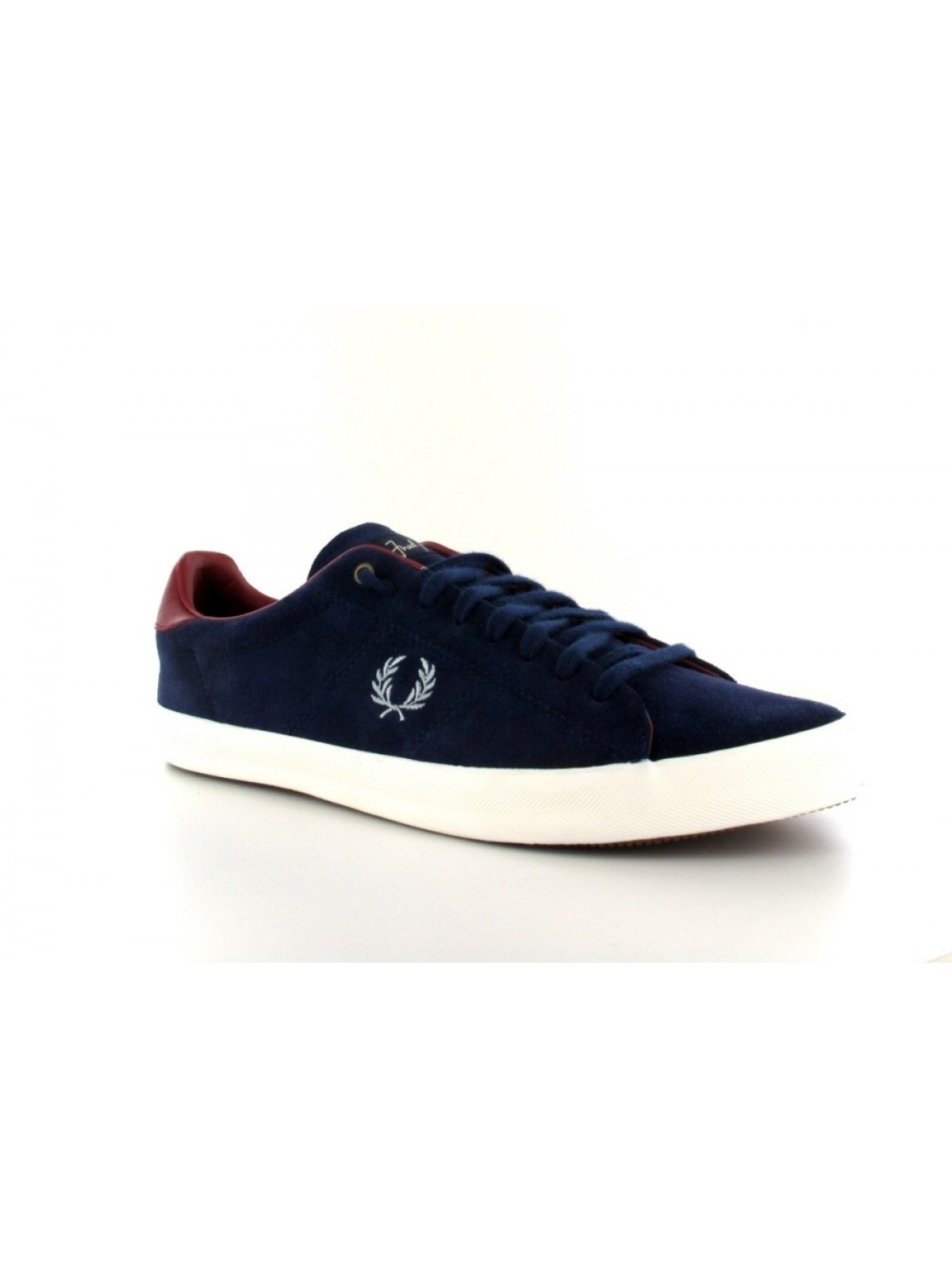 Fred Perry Howells suède carbon blue