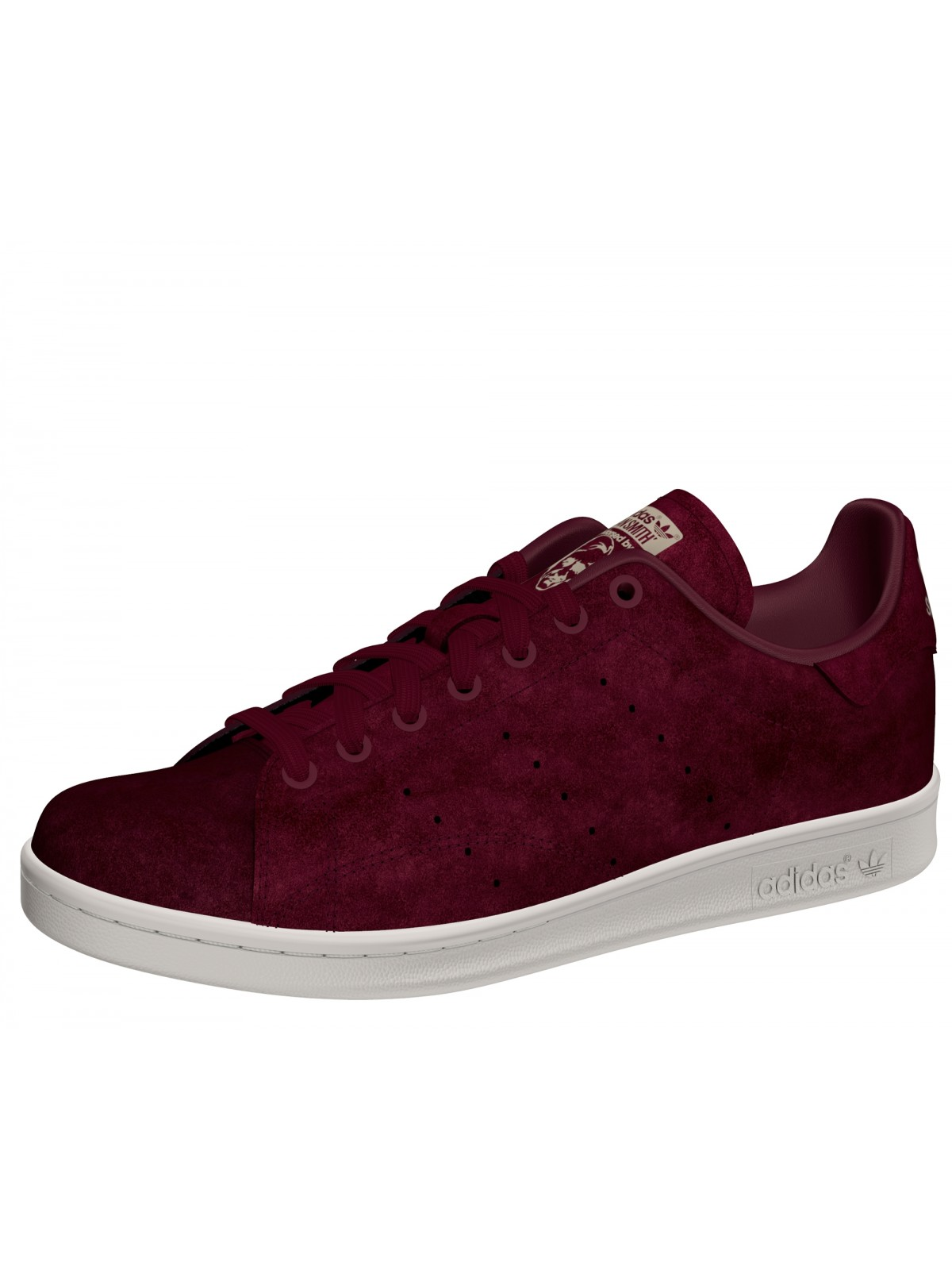 ADIDAS Stan Smith suède galon bordeaux