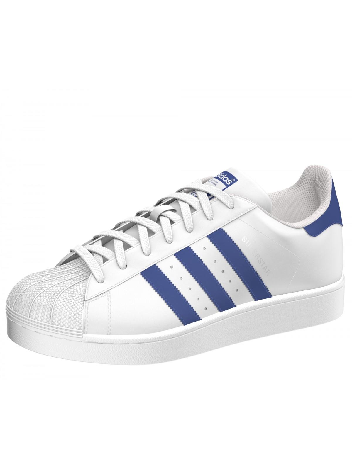 adidas superstar cuir bleu