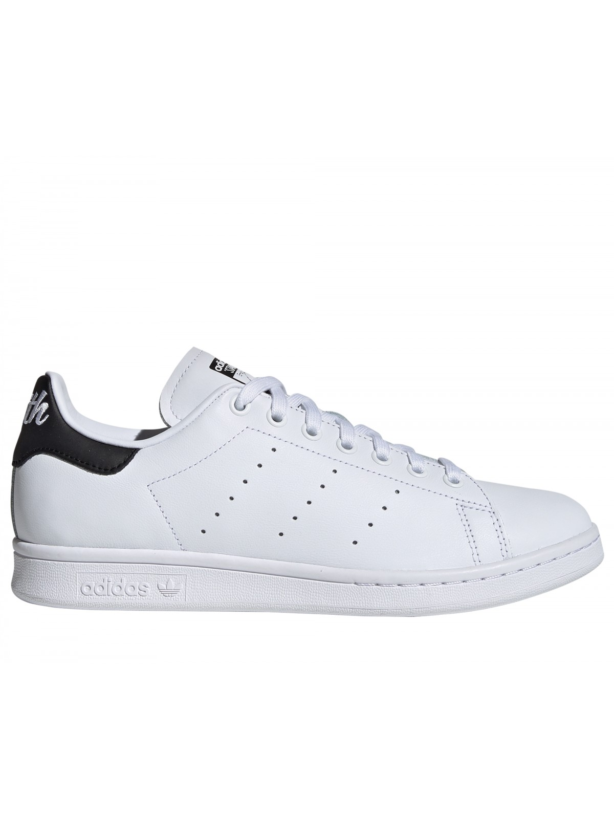 grossiste 245db c0705 ADIDAS Stan Smith Inscription Cuir blanc / noir - Stan smith ...