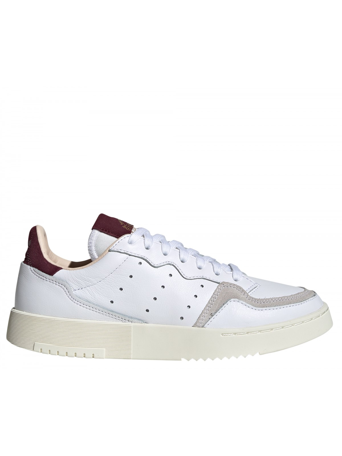 ADIDAS Supercourt blanc / bordeaux