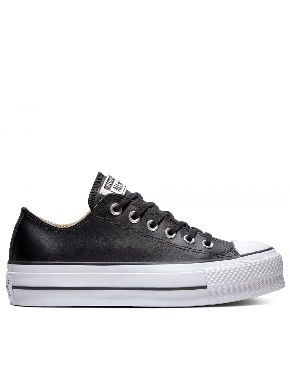 basket converse cuire noir