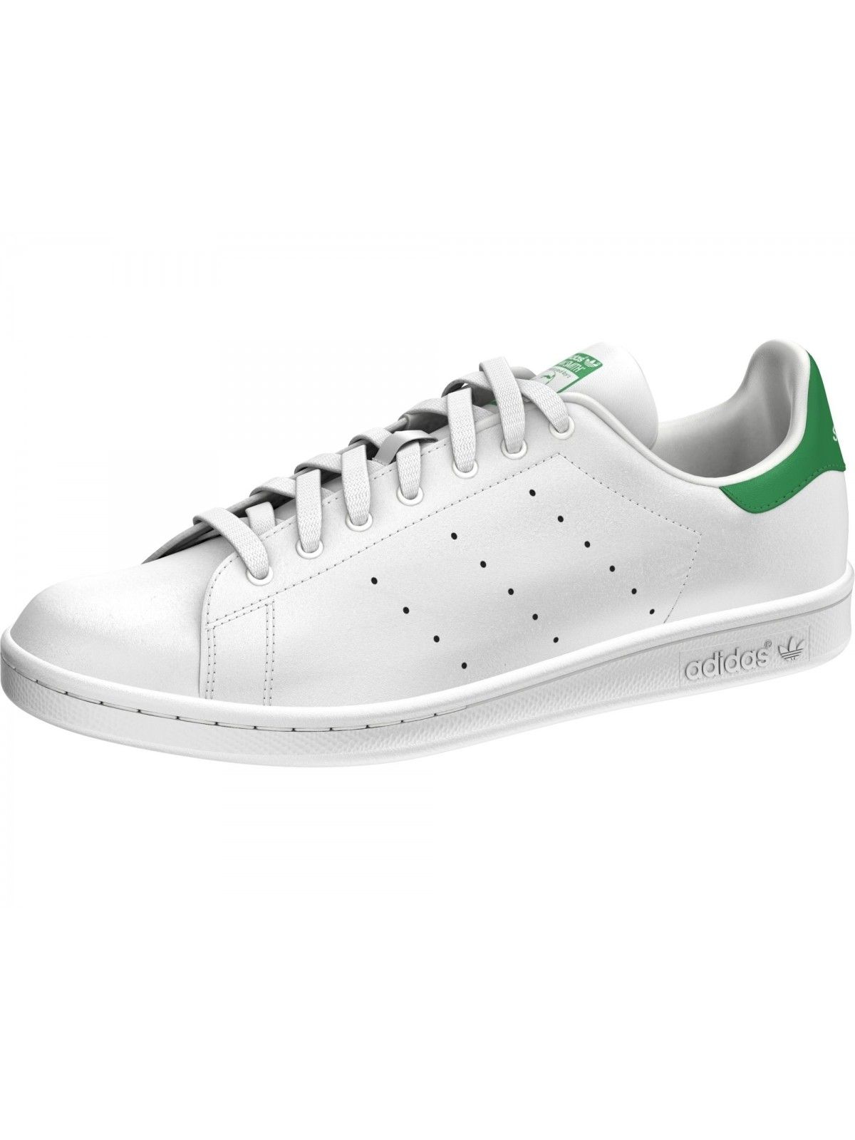 plus récent 00c2f e078a ADIDAS Stan Smith simili cuir blanc / vert - Stan smith ...