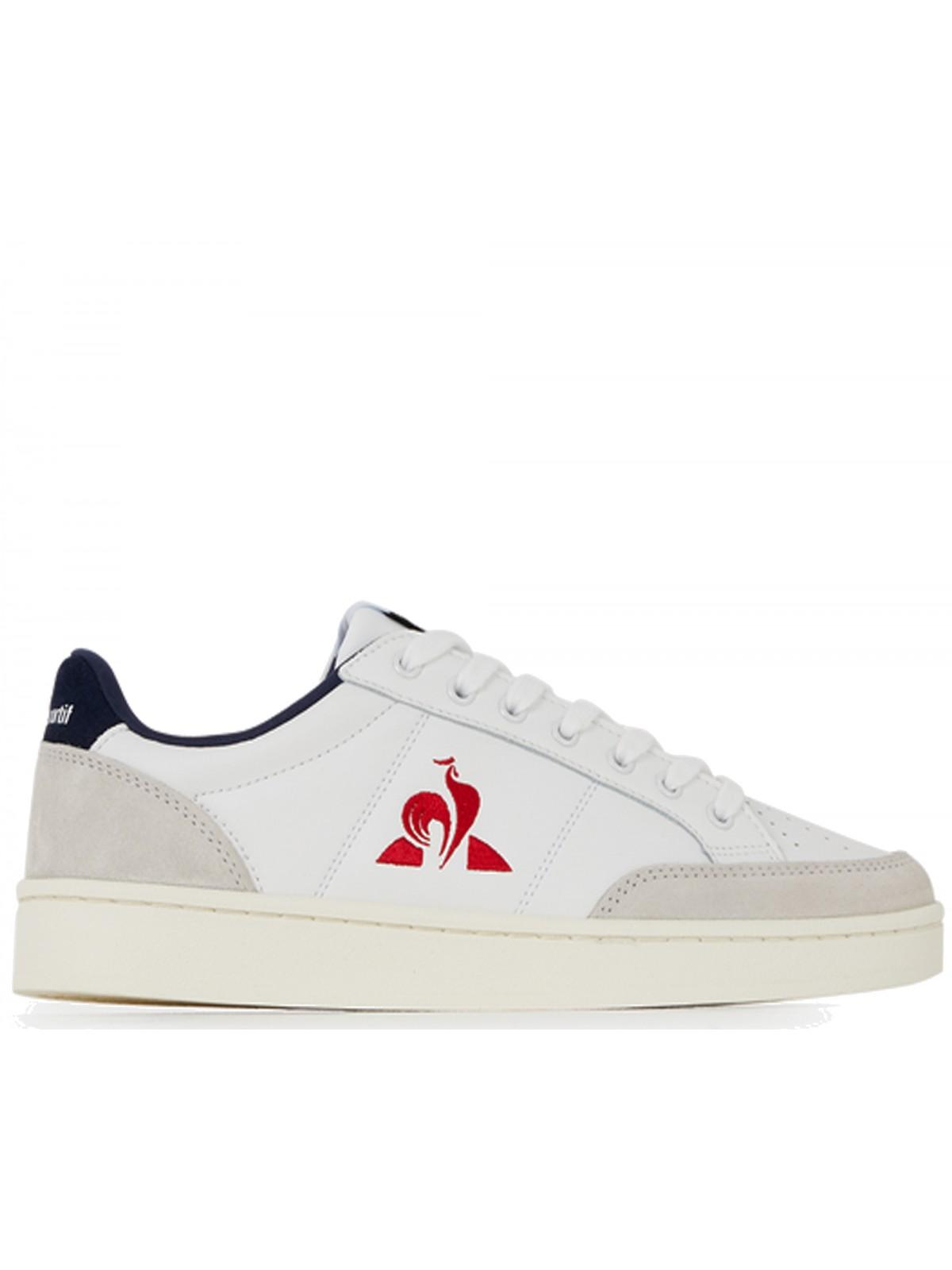 Le Coq Sportif Courtnet cuir blanc / rouge