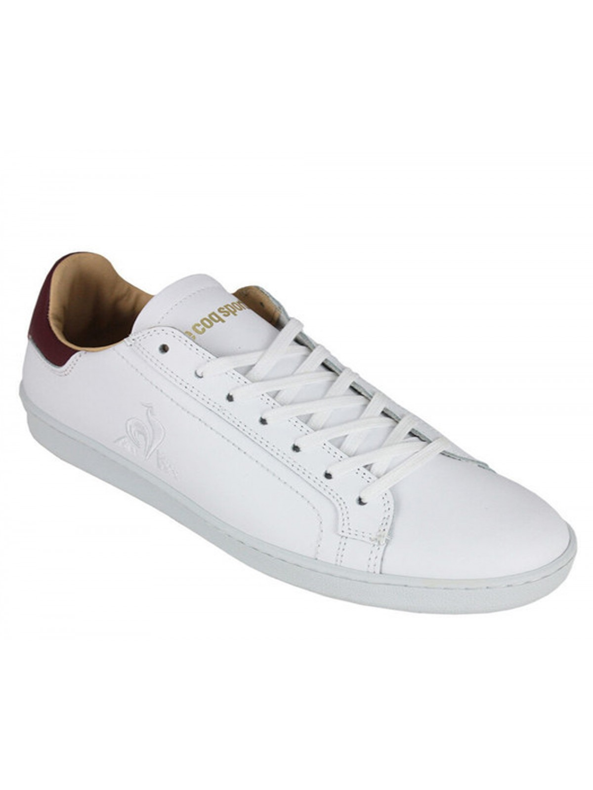 Le Coq Sportif Avantage cuir blanc / bordeaux
