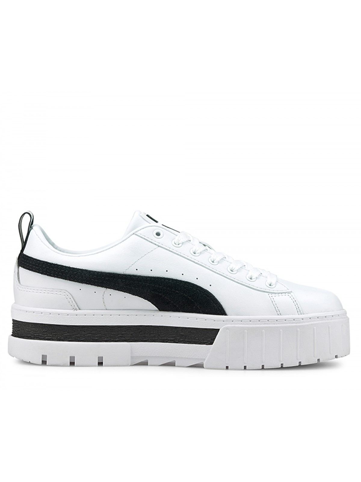 Puma Mayze cuir blanc / noir