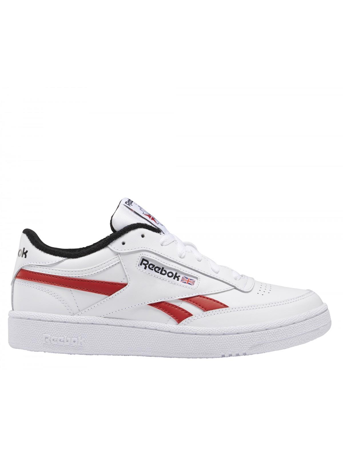 REEBOK Club C85 cuir blanc rouge marine