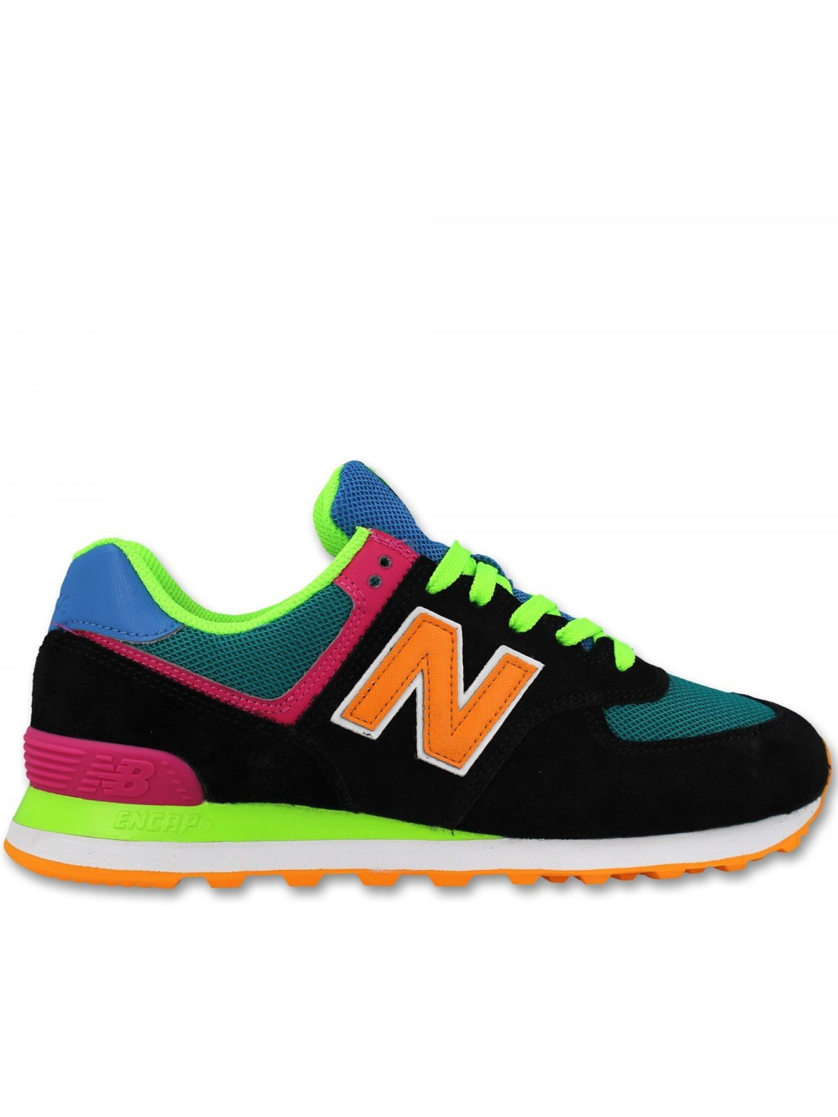 New Balance ML574 Multi fluo noir