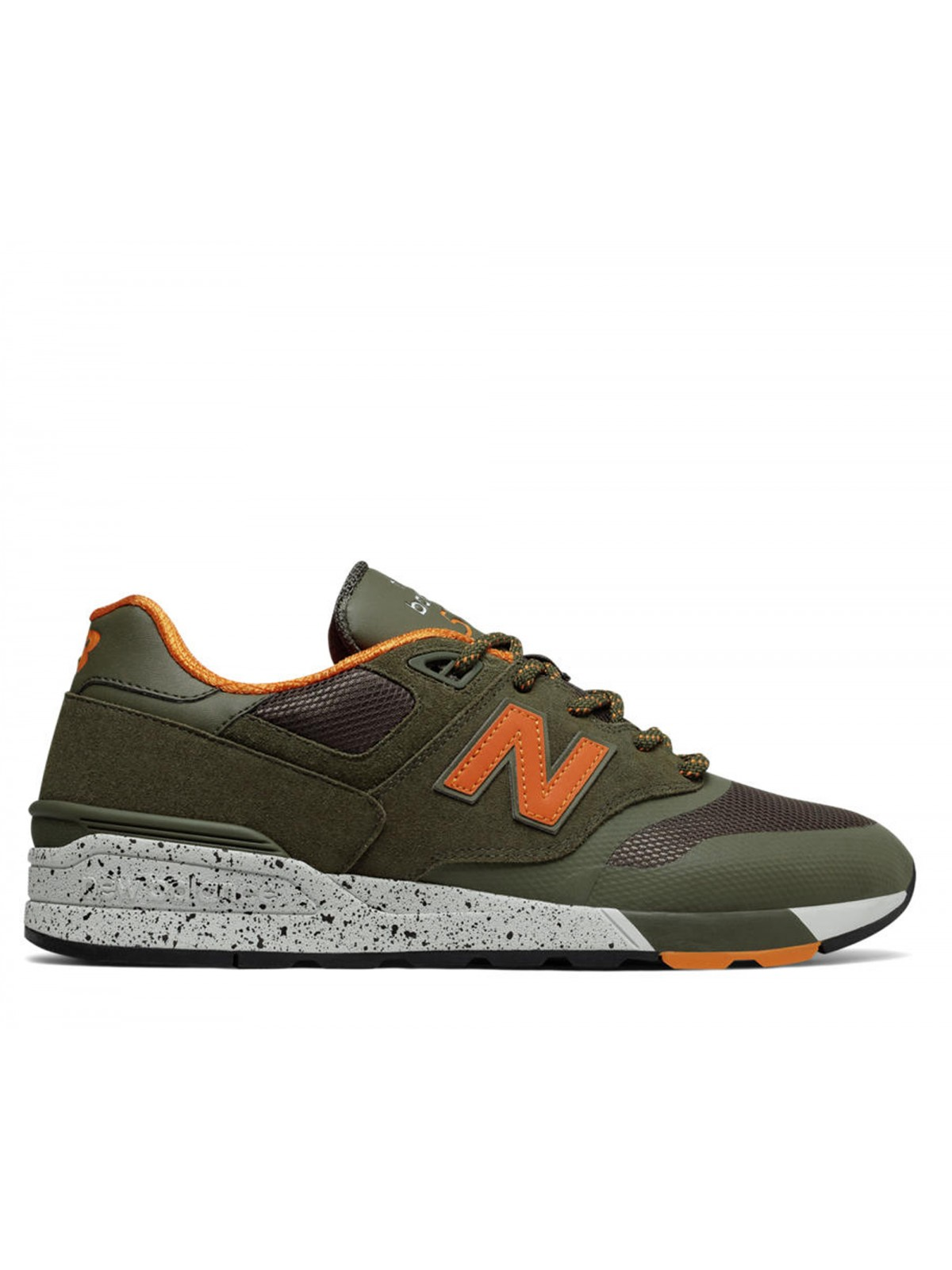 new concept 57b5a f7fe6 New Balance ML597 kaki   orange