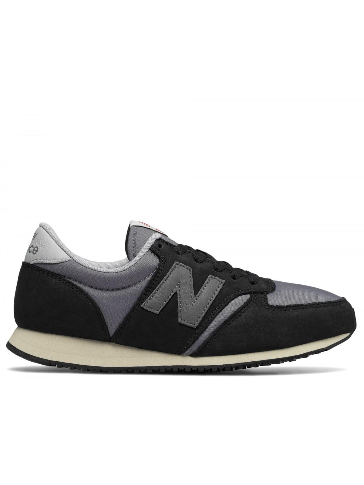New Balance U420 nylon suède noir / gris