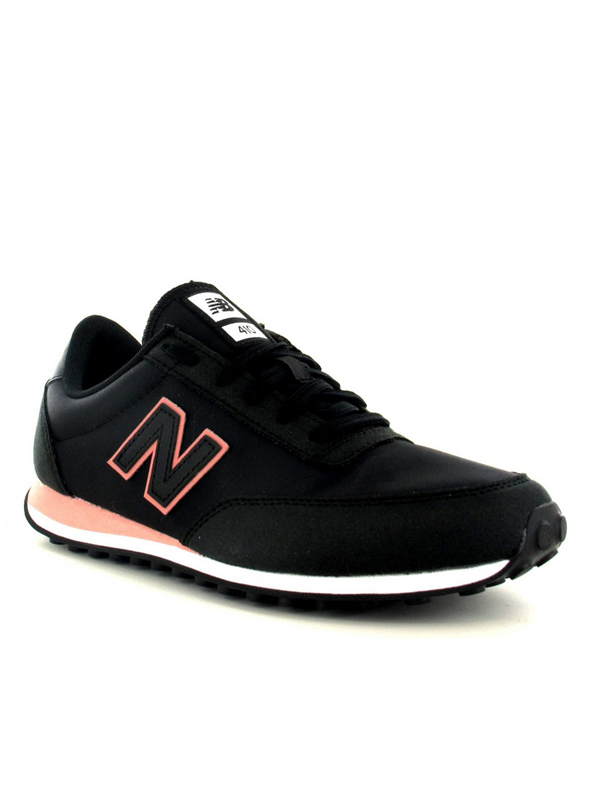 New Balance WL410 nylon noir / rose