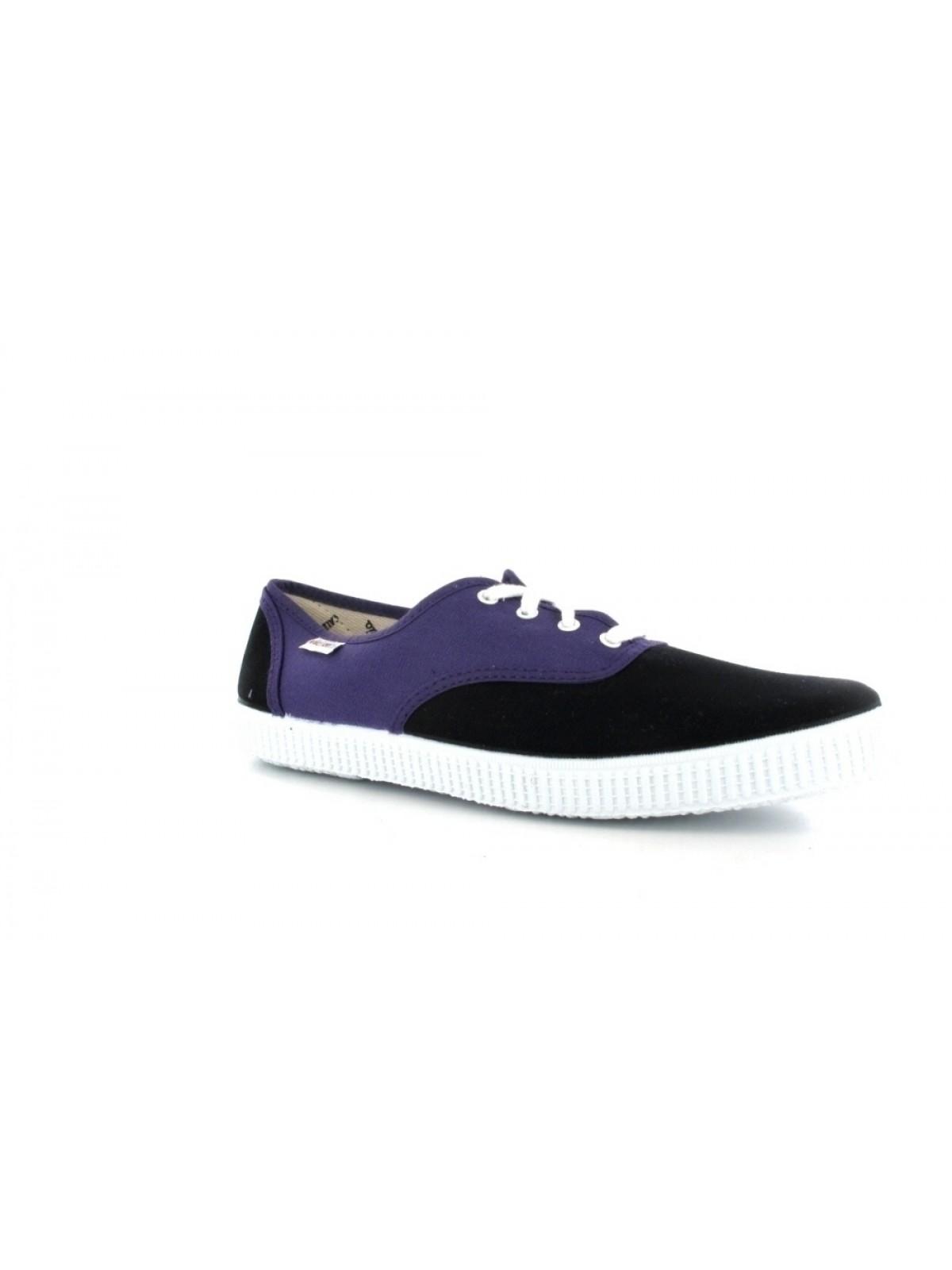 Victoria toile bicolore noir / violet