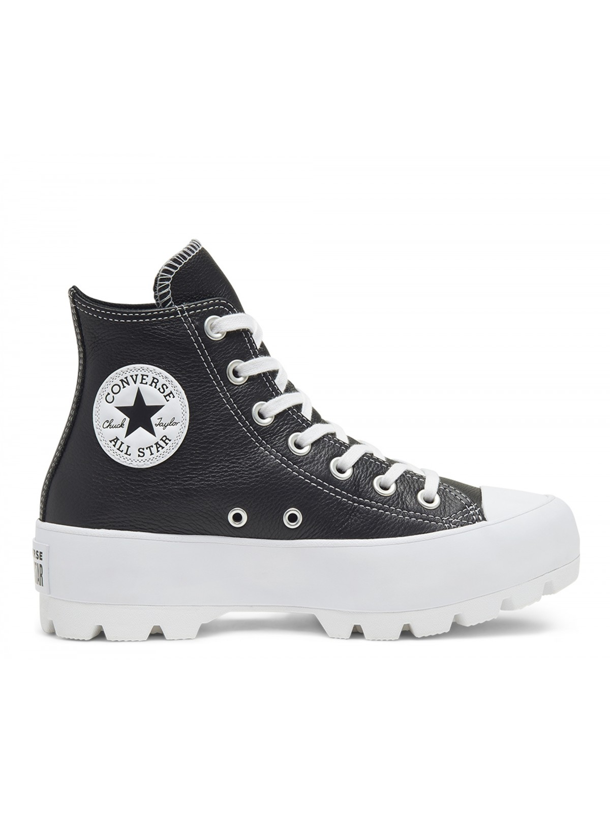 Converse Chuck Taylor all star  Lugged cuir plateforme noir