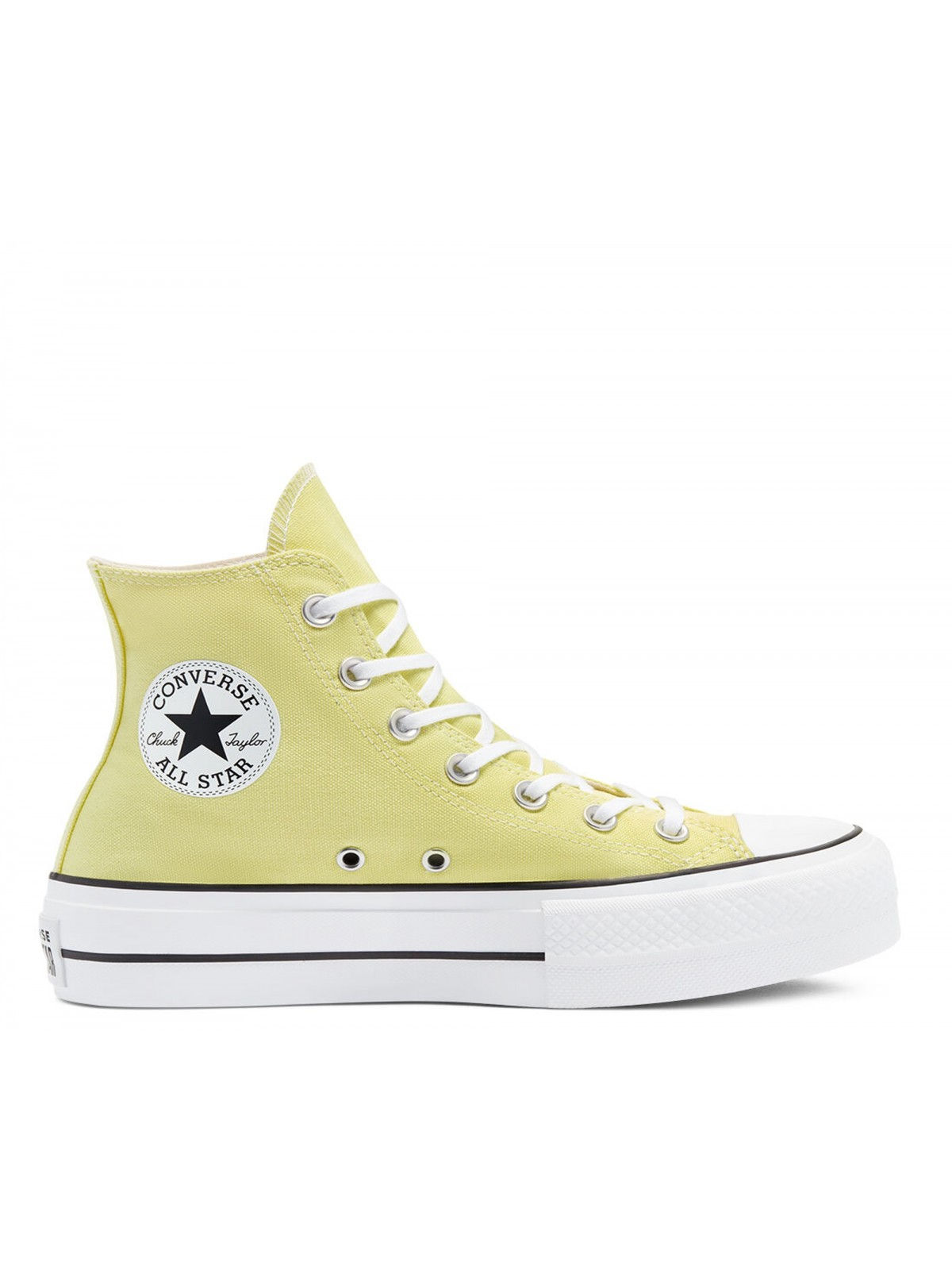Converse Chuck Taylor all star Lift toile plateforme zitron