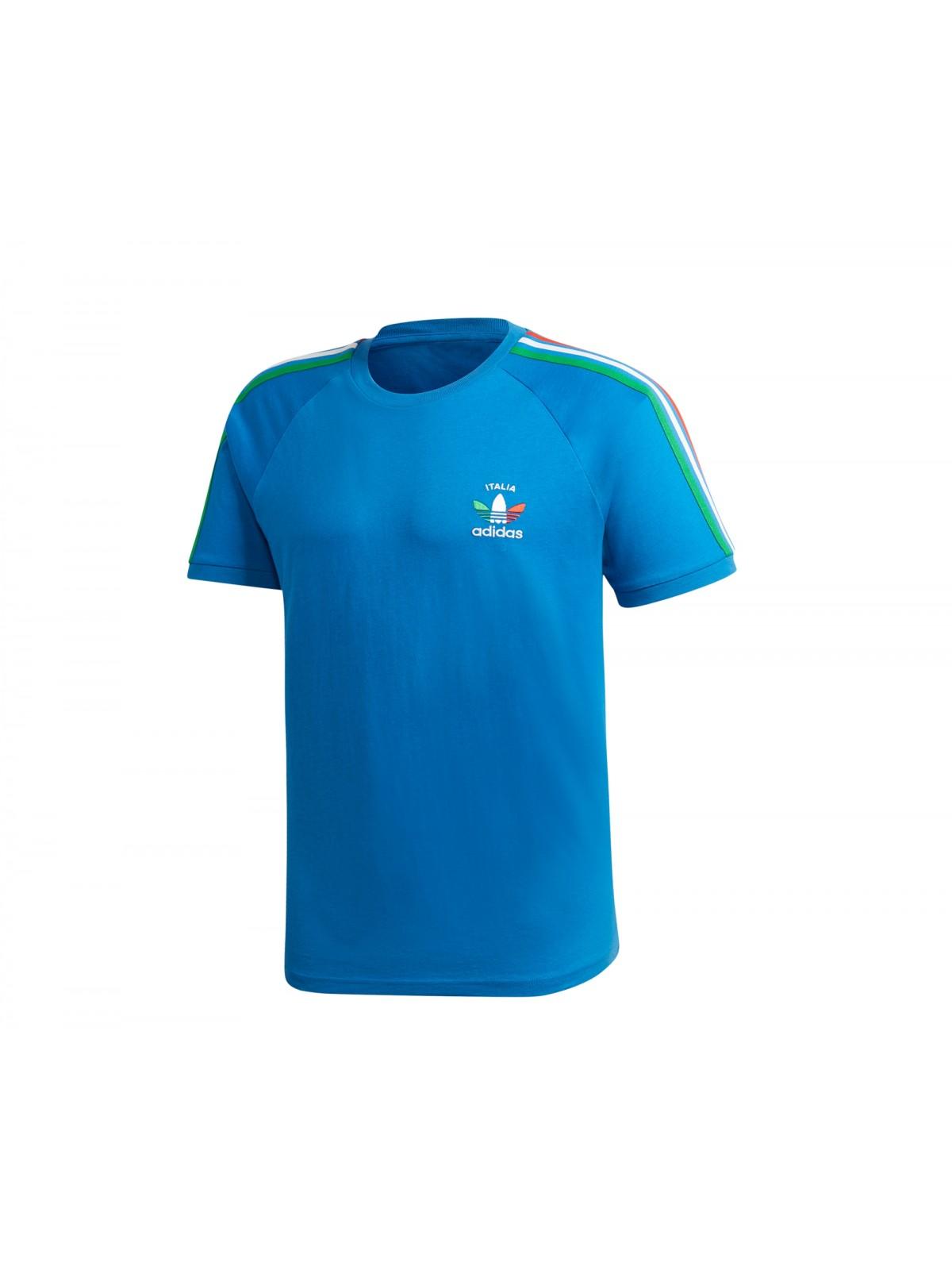 ADIDAS GP1921 Tee- Shirt Italie bleu