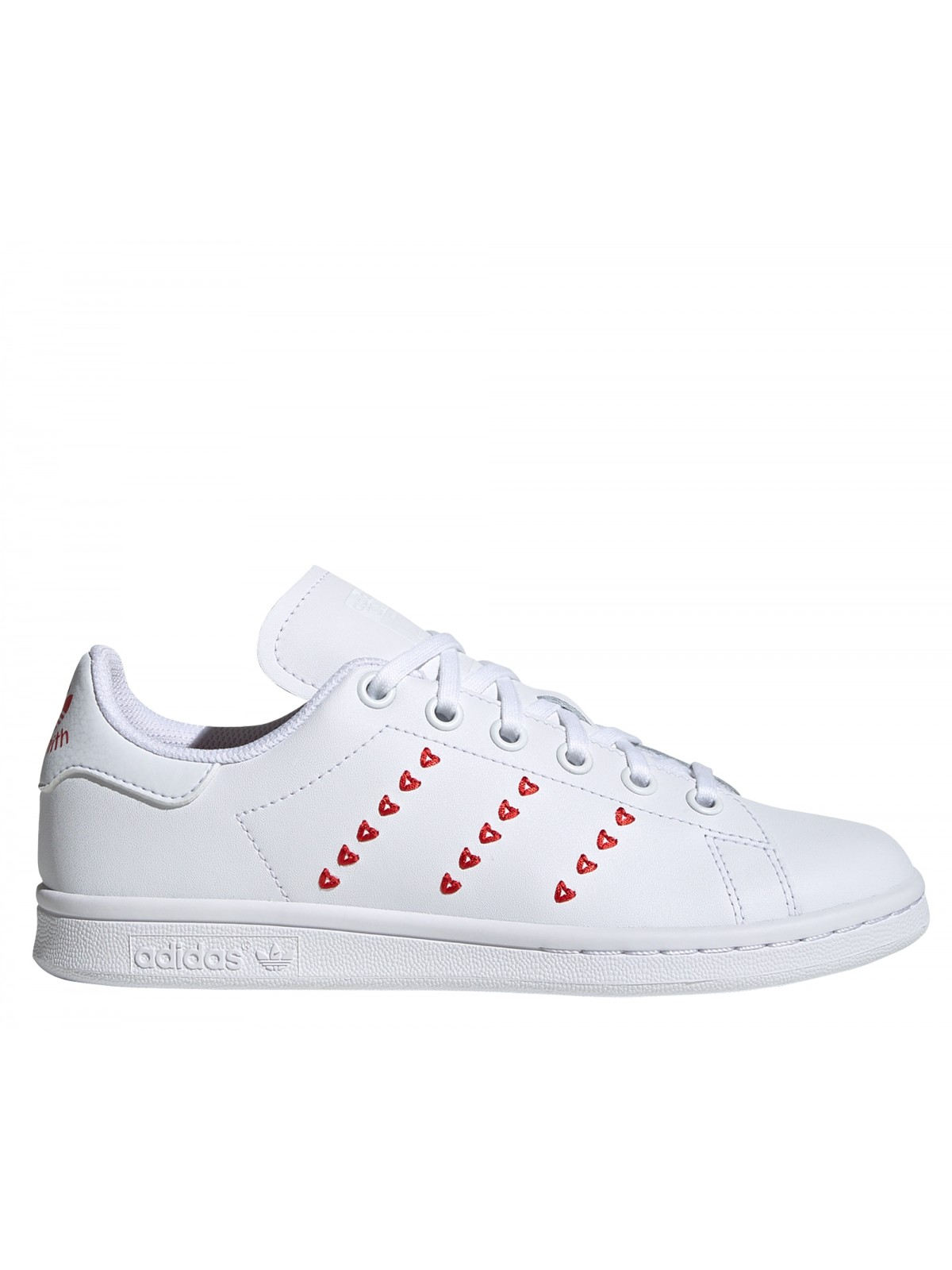 ADIDAS Stan Smith Kids Coeur rouge
