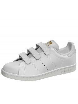 Adidas Stan Smith cuir velcro blanc