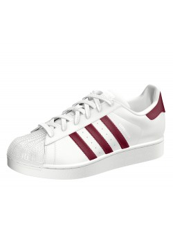 ADIDAS Superstar cuir blanc / bordeaux