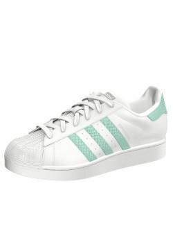 ADIDAS Superstar cuir blanc / vert