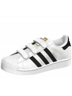 Adidas Superstar Cadet velcro blanc / noir