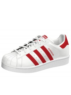 ADIDAS Superstar Kids blanc / rouge