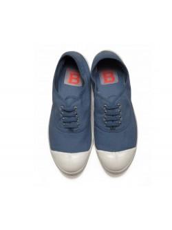 Bensimon tennis lacet bleu gris
