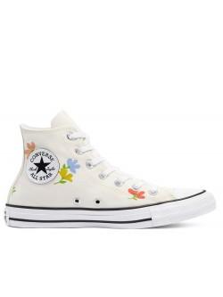 Converse Chuck Taylor all star toile fleur crème