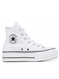 Converse Chuck Taylor all star Lift toile plateforme blanc
