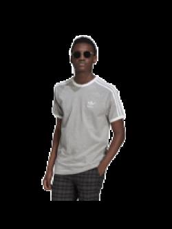 ADIDAS GN3493 Tee- Shirt 3 bandes gris / blanc