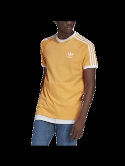 ADIDAS GN3498 Tee- Shirt 3 bandes orange / blanc