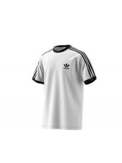 ADIDAS Tee - Shirt 3 bandes cw1203 blanc