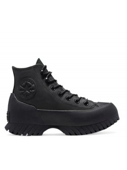 Converse Chuck Taylor All Star Lugged Winter 2.0 Cold Fusion cuir plateforme monochrome noir
