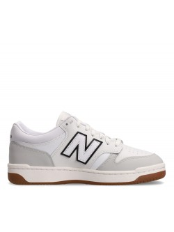 New Balance BB480 cuir blanc / noir