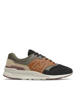 New Balance CM997 suéde noir / kaki