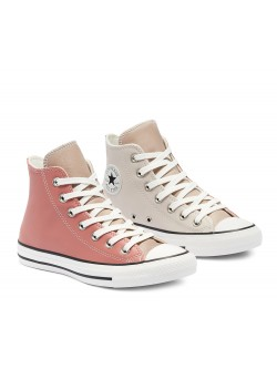 Converse Chuck Taylor all star  cuir tricolore rose