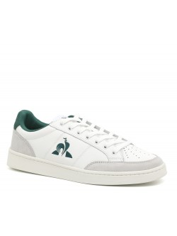 Le Coq Sportif Courtnet cuir blanc / vert