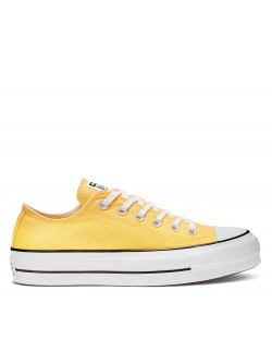 Converse Chuck Taylor all star Lift basse toile plateforme jaune