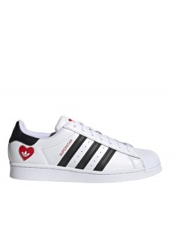 ADIDAS Superstar cuir blanc Saint Valentin