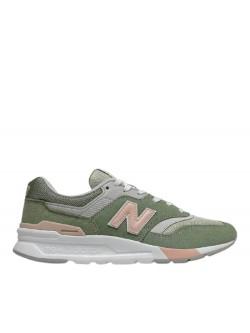 New Balance CW997 suède vert / rose