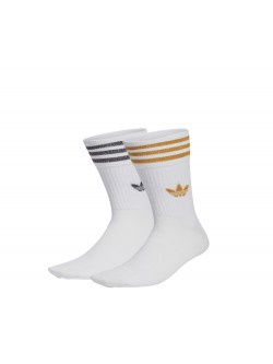 ADIDAS Chaussettes Mid Crew blanc / or