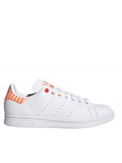 Adidas Stan Smith Primegreen brodé 3 oeillets orange