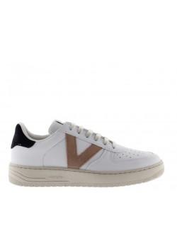 Victoria 129101 cuir blanc / beige / marine