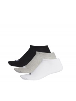 ADIDAS Chaussettes trefoil courtes gris logo blanc